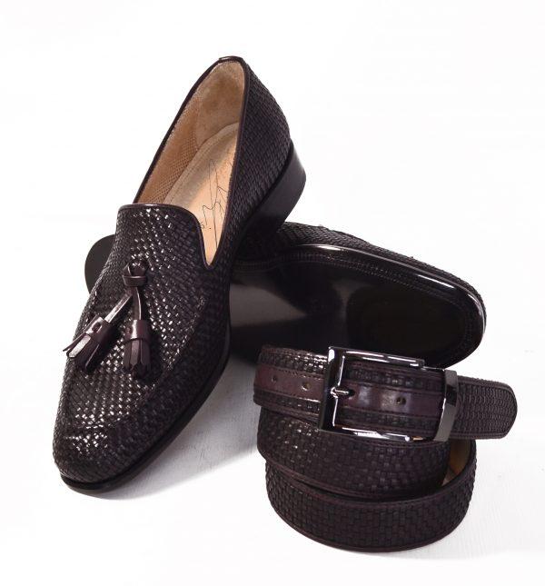 Bespoke Handmade Italian leather moccasin